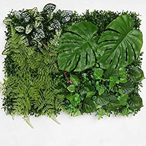 Feliz2u Artificial Plant Wall Cover Decorations, Greenery Plants Panel Wall Décor for Home Indoor Decoration, 1218 inches, one Pack