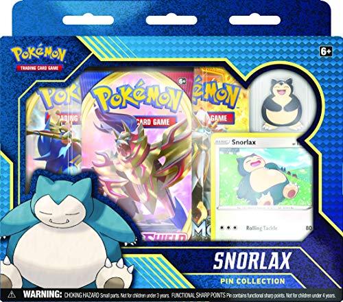 Pokemon POK81787 Pokémon TCG: Snorlax und Morpeko Pin Collection (zufällig), Mehrfarbig