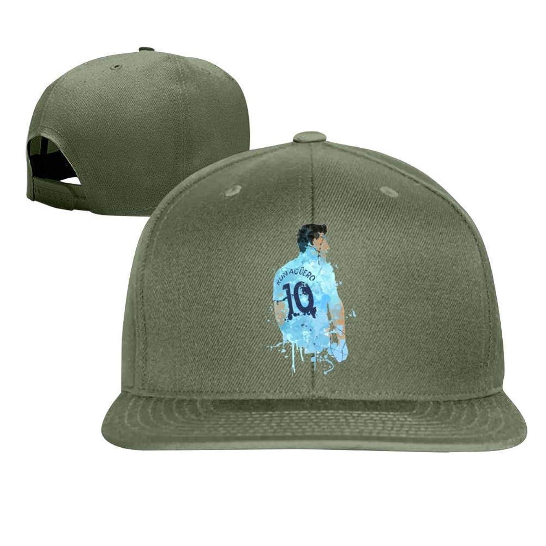 BEKAI Hip Hop Flat Cap,Sergio Aguero Manchester City Legend Unisex Adjustable Baseball Hat Trucker/Sports