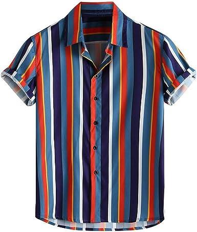 Camisa a Rayas para Hombre Camisas Casual para Hombre Camisa ...