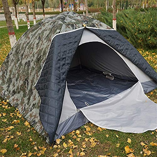 JLKDF Tenda Alloggio Confortevole 3-4 Persone Tenda da Esterno Tenda da Esterno in Cotone Impermeabile Doppio Spesso Caldo Tenda Mimetica Ideale per la Pesca all aperto per Escursionismo