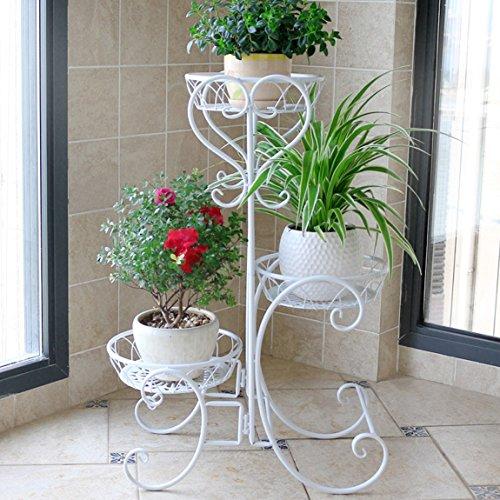 CJH Salle de séjour d'art de fer de balcon européen de fleur de fer, support de fleur vert, type de support de pot de fleur de plancher.