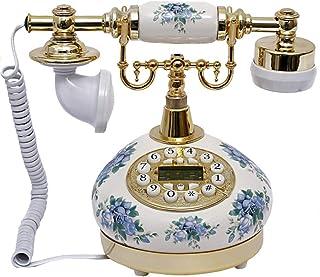 Phone Retro Phone/Vintage Antique Phone/Ceramic/Button Dial Home Office Living Room Decoration Retro Landline