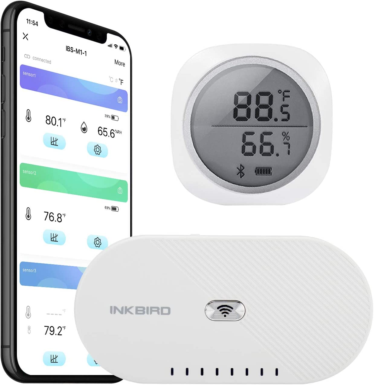 Inkbird Trust IBS-TH1 Plus Bluetooth Temperature Rapid rise Humidity Monitor and