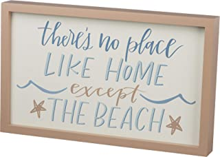 Primitives by Kathy Inset Box Sign No Place Like Home Except Beach Wall Decor