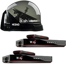 King Dish DTP4900 Tailgater PRO Premium Satellite TV Antenna w/ 2 Wally Receivers