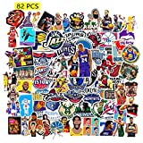 Kilmila Basketball All-Star Stickers [82Pcs Large Size ] Gifts Badketball Star Merch Party Supplies Vinyl Stickers for Fans Teens Skateboard Guitar Bike Bicycle Stickers