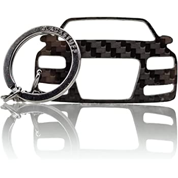 BlackStuff Carbon Fiber Keychain Keyring Ring Holder Compatible with M3 E90 E91 E92 E93 BS-149