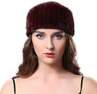 Women Winter Autumn Fur Headband Genuine Mink Women Winter