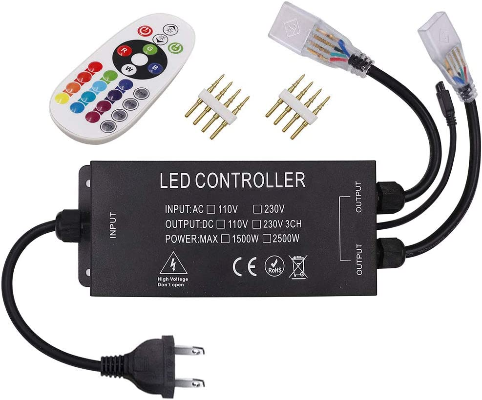 Xunata LED Light RGB Remote AC Controller 1500W Easy-to-use All items free shipping S 110V-130V