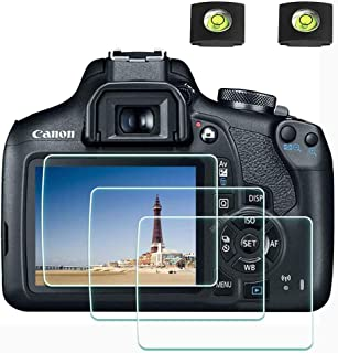 Rebel T7 T6 Screen Protector for Canon EOS Rebel T7 T6 T5 DSLR Camera & Hot Shoe Cover, [2+3Pack] ULBTER 0.3mm 9H Hardness...