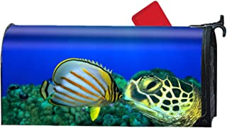 iacafaf Turtle and Fish Magnetic Mailbox Cover Custom Numbers