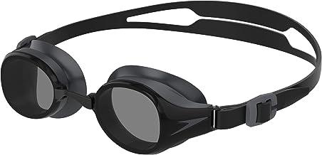 Speedo Unisex Hydropure zwembril, zwart/grijs, one size