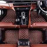 Alfombras de piso de coche personalizadas de cuero PU delantero trasero alfombras antideslizante forro de cuero de la PU completa cobertura alfombras para Infiniti EX serie 2008-2013