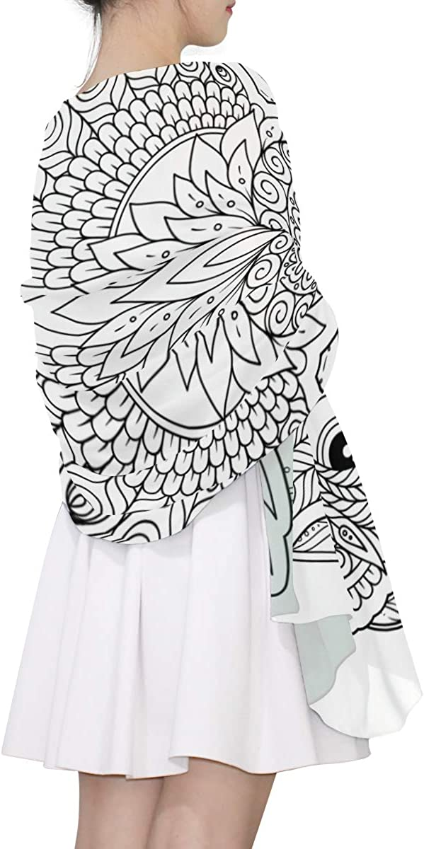 Fashion Scarfs For Women Lightweight Coloring Book For Adult And Older Children Soft Scarf Multi Scarf Lightweight Print Scarves Thin Scarfs For Women Lightweight Scarf Belts For Women