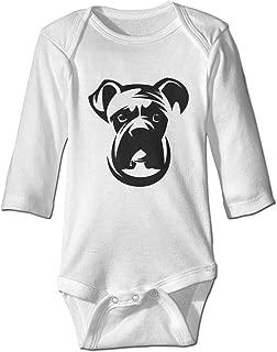 SportsLadyshop Cute Baby Boys Girls Romper Bodysuit Boxer-Dog Infant Funny Jumpsuit Outfit Long Sleeves