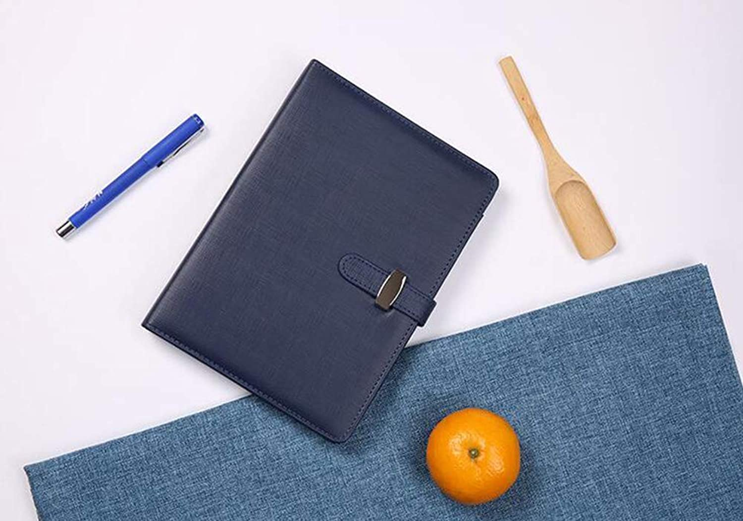 A5 LooseLeaf Detachable Page Diary Imitation Leather Cover Suit Business Business Office Stationery Notepad,bluee