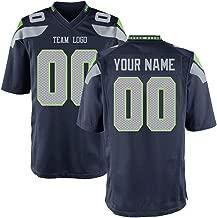 Custom Football Jersey Design Your Own Logo Stitch Sew Team T-Shirt Seattle 2019 Draft Men Women Youth Kids