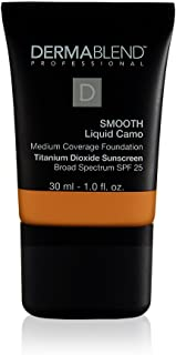 Dermablend Professional Smooth Liquid Camo - 24 Hour Hydrating Foundation with Broad Spectrum SPF 25 - Buildable Medium Co...