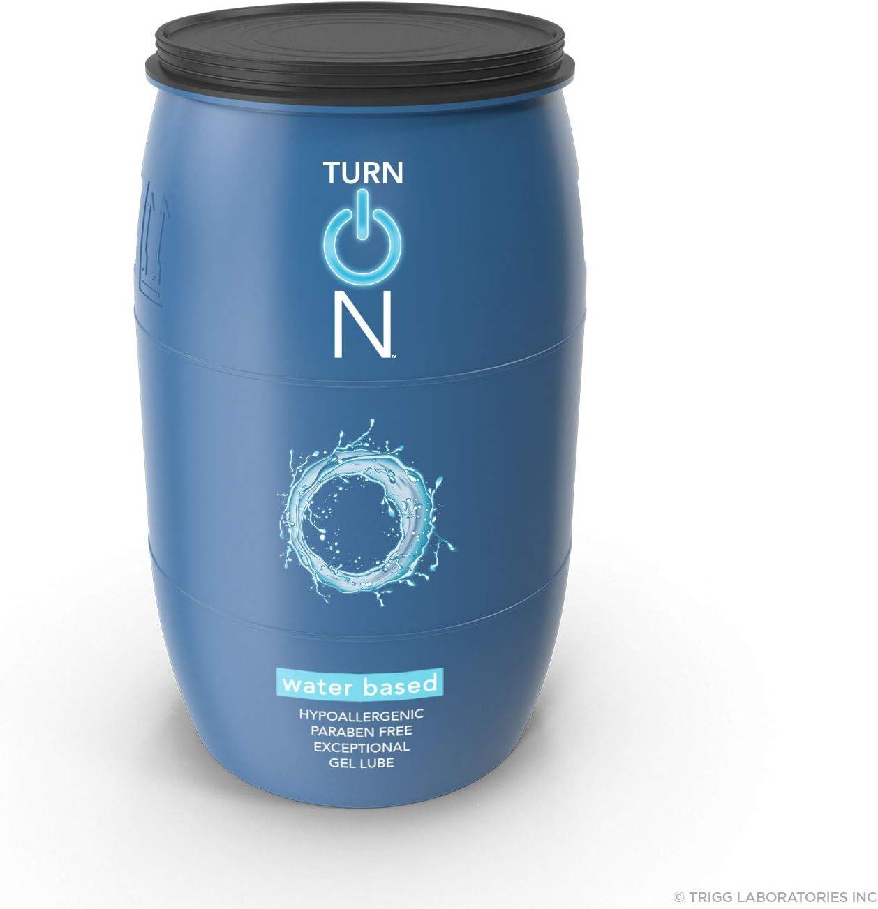 Turn On Water Based Sex Lube Lub Premium 55 Gallon Award Drum Personal 2021 model