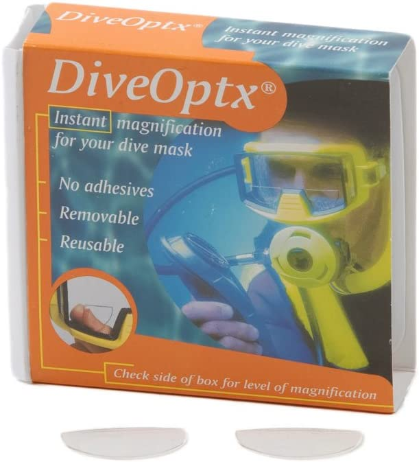 Trident Optx Flexible Dive Mask 1.75 4 1 year warranty years warranty Pair Magnifiers