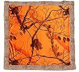 Carstens Realtree Blaze Camo Baby Blanket, Orange, 34' x 34'