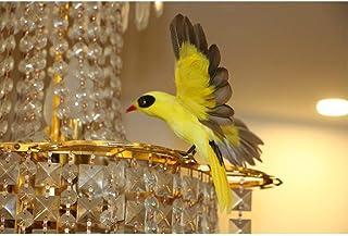 DIVERS Maison Jardin Pelouse Décoration Oiseaux Artificiels Véritable Regard à Plumes Fil De Noël Modèle D'arbre Artisanat...