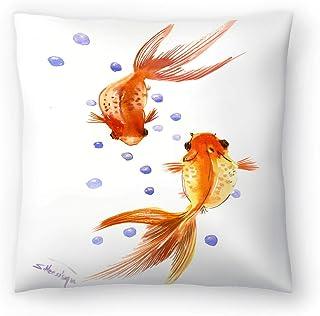 """Americanflat Feng Shui Goldfish Koi 1 Pillow by Suren Nersisyan 16"""" x 16"""" x 1.5"""""""