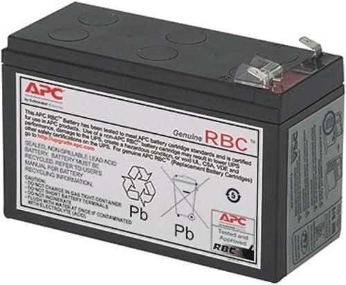 APC APCRBC154 Battery Replacement for Backups Models BE600M1, BE670M1, BN675M1, Black