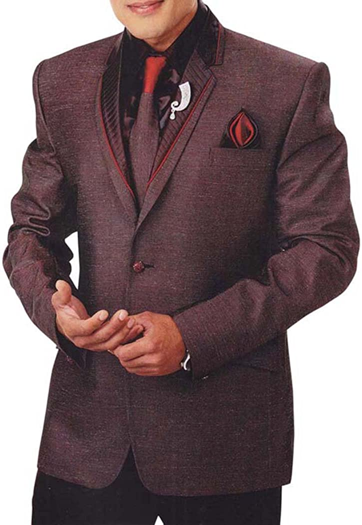 INMONARCH Mens Brown 6 Pc Tuxedo Suit Traditional TX934