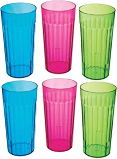 30oz Rainbow Tumbler Pack of 6 - Assorted colors