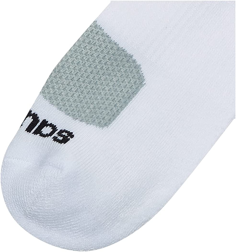 Saucony Men's Multi-Pack Mesh Ventilating Comfort Fit Performance Quarter Socks (6 & 12, White (6 Pairs), Shoe Size: 8-12 at  Men's Clothing store