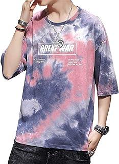 مجموعات Tie Dye تي شيرتات للرجال، قمصان علوية قطنية غير رسمية، مجموعة تي شيرت للأولاد المراهقين للصيف، تي شيرت بطباعة الحروف