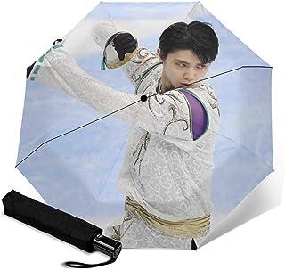 羽生结弦 折叠伞 一键自动开合【最新版&2层构造】耐强风 超防水 210t高强度玻璃纤维 防紫外线 隔热 结实 带伞套