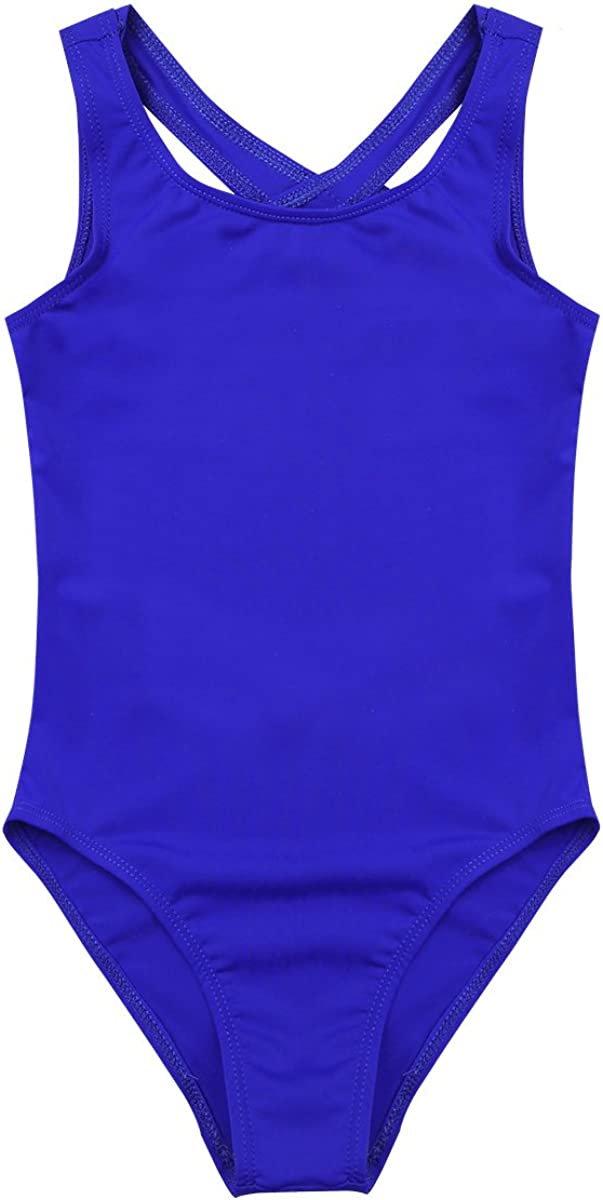IEFIEL Fille Leotard Ballet Justaucorps De Danse Bodysuit Combinaison Classique Body De Ballet V/êtements de Sport Jumpsuit Clubwear 4-14 Ans