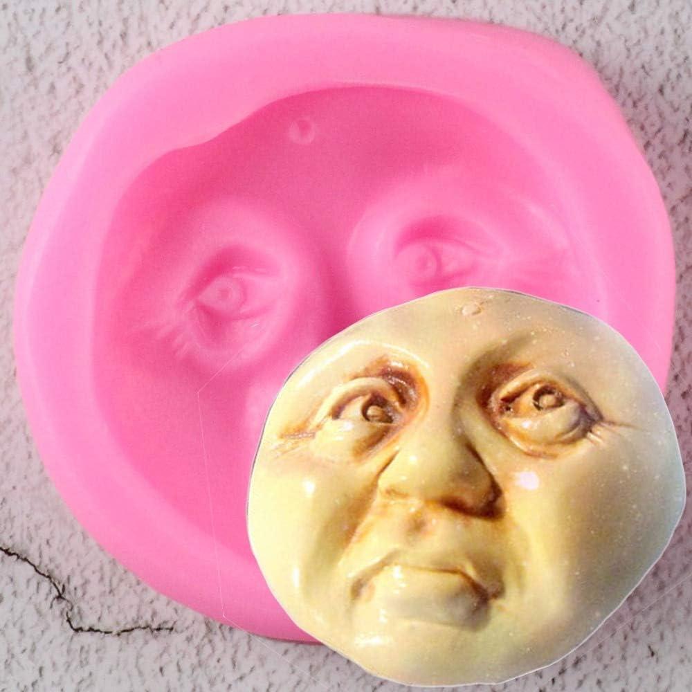 chocolate mold gum paste mold Doll Face silicone mold face mould Cute Face mold face silicone mould fondant mold