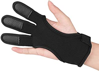 KRATARC Archery Gloves Finger Protector Youth Kids Shooting Hunting Arrow Bow for Boys Girls Protective Gear Accessories