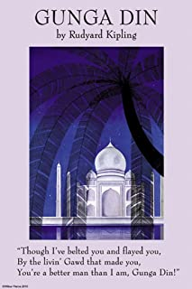 ArtParisienne Gunga Din Rudyard Kipling 12x18 Poster Semi-Gloss Heavy Stock Paper Print