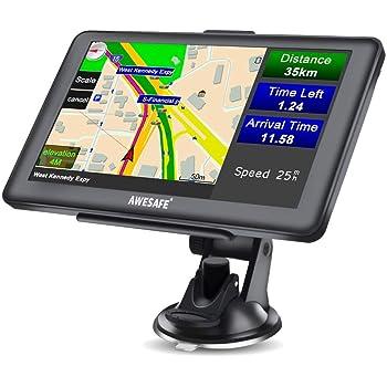 Jingyi GPS Navigator Unterst/ützung Multimedia-Funktionen 7 Zoll LKW Auto GPS Navigator 8 GB ROM Bluetooth Navigationsger/ät Kostenlose Karte 30 Sprachen