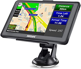 AWESAFE GPS Navi Navigation für Auto LKW PKW KFZ Navigationsgerät 7 Zoll Lebenslang Kostenloses Kartenupdate 2020 Europa Karten