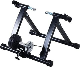 HOMCOM Rodillo Entrenamiento Bicicleta 5 Niveles de Resistencia por Cable Cicloentrenador Acero Bici Color Plata/Negro