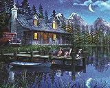 Springbok's 1000 Piece Jigsaw Puzzle Moonlit Night