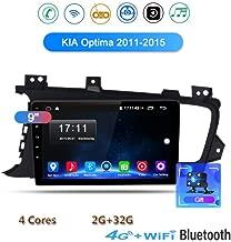 Yuahwyehe 9 Pulgadas Car Radio Android para Kia K5 Optima 2011-2015 Car Radio Player GPS NAVEGACIÓN WiFi Bluetooth MP5 Player Navegación Audio Video De Automóvil con Doble DIN Autoradio