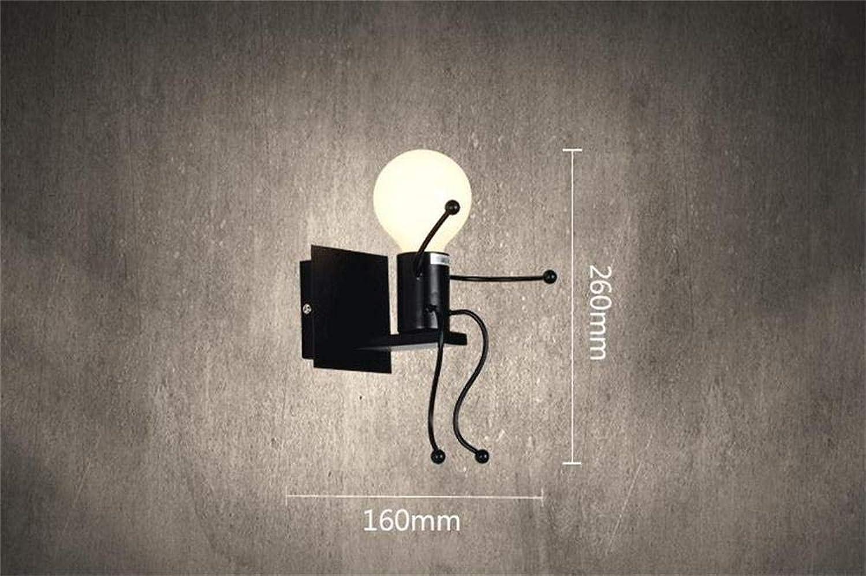 LXD Hauptlampe amerikanisches Land Retro unbedeutende kreative Schurken-Wand-Schlafzimmer-Nachtwand