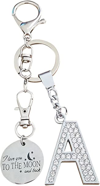 Details about  /LOVE YOU MOON /& BACK STAR LOVE KEY CHAIN CLIP FOR PURSE BAG ZIPPER PULL FOB