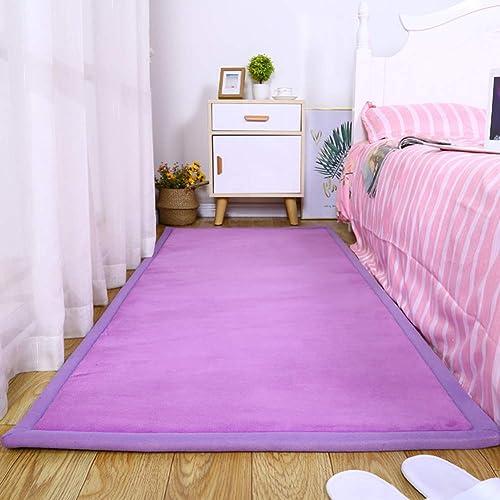 Mr.LQ Tapis de Jeu pour bébé Tapis Rampant Pliant épaississeHommest Anti Chute Tapis Tapis de Sol antidérapant diverses Tailles,violet,80x160cm