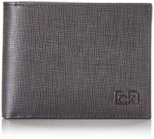 Calvin Klein Ck Signature Saff 5cc W/Coin - Portafogli Uomo, Nero...