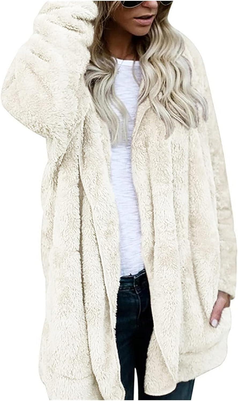 BCDlily Women's Soft Hooded Fleece Coat Winter Warm Jacket Faux