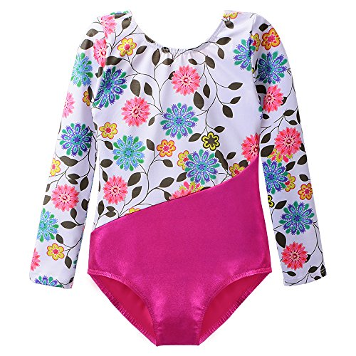 Gymnastics Leotard for Girl Dance Clothes Gold Sparkly Mermaid 2-15 Years