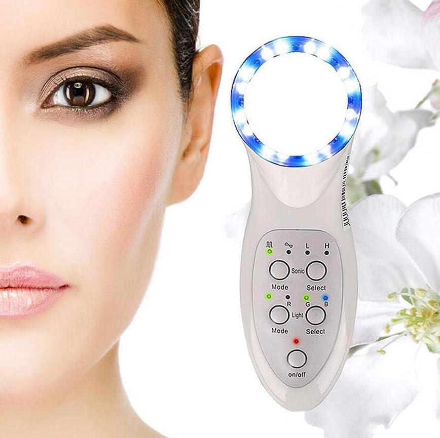 法廷生まれおしゃれな美顔術のマッサージャー、7つのLEDライトスキンケアのしわの除去剤のマッサージャーの栄養素の液体の紹介者世帯の美の心配装置